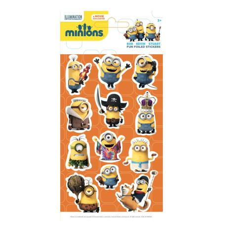 Minions Fun Foiled Re-Usable Sticker Pack  £1.25