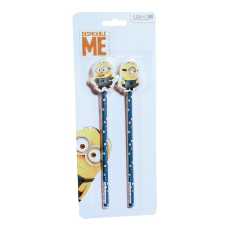 Minions Pencil & Topper Set (Pack of 2)   £1.99