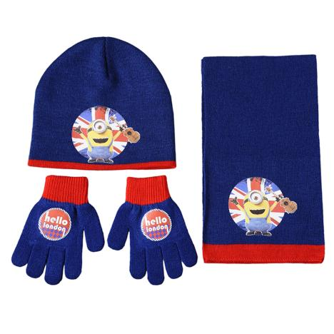 Hello London Minions Hat Gloves & Scarf Set  £7.99
