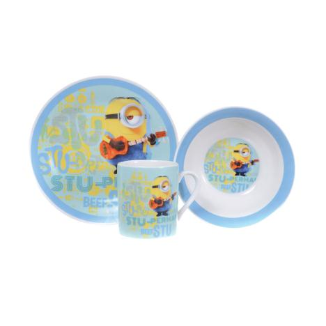 Stu-perman Minion Stuart Minions 3 Piece Breakfast Set  £7.99