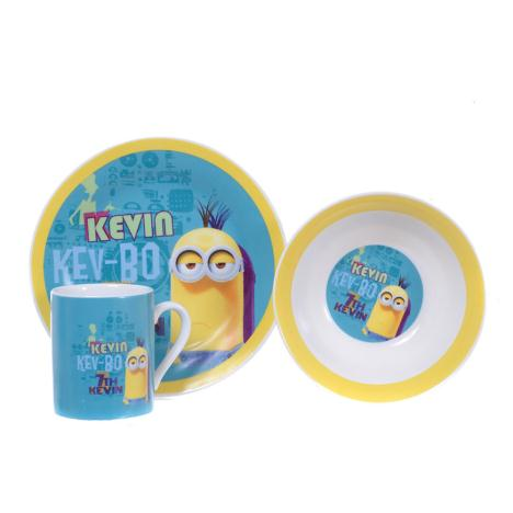 Kev-bo Minions Kevin 3 Piece Breakfast Set  £7.99