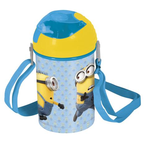 Minions Pop Up Lid Drinks Canteen With Carry Strap  £3.99