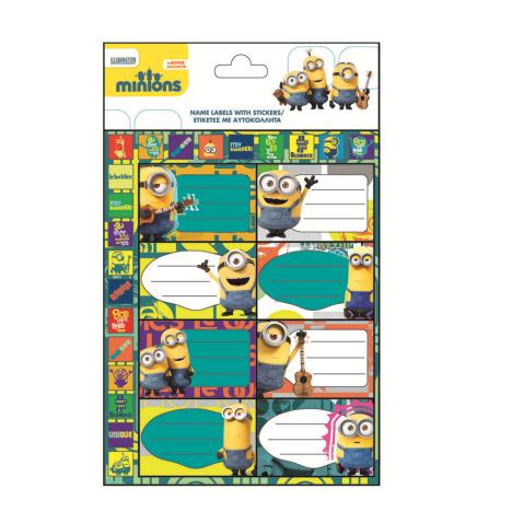 Minions Name Labels with Stickers   £0.69