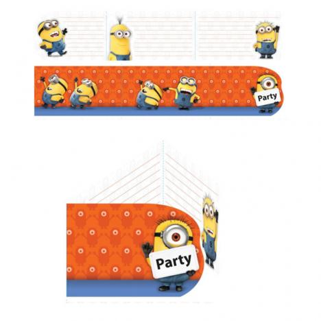 Minions Invites & Envelopes (Pack of 6)  £3.49