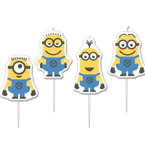 Minions Mini Figurine Candles (Pack of 4)   £3.49