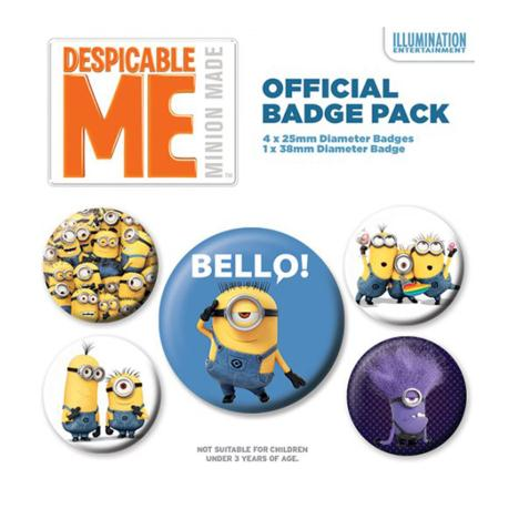 Minions Despicable Me Bello Badge Pack   £2.99