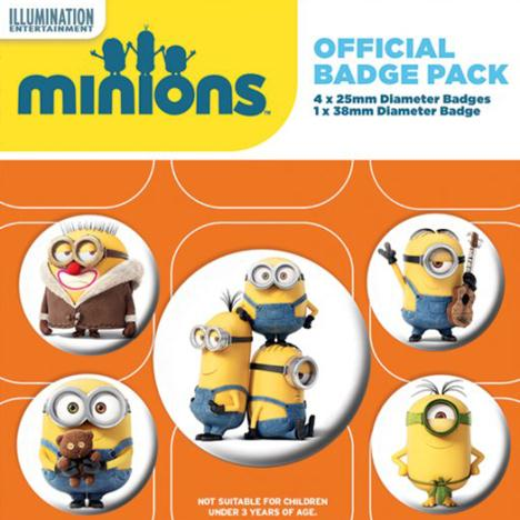 Minions Characters Badge Pack   £2.99