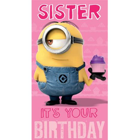 Sister Minion Birthday Card  £2.10
