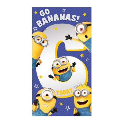6 Today 6th Birthday Minions Card  £2.10
