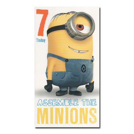 7 Today 7th Birthday Minions Card  £2.10