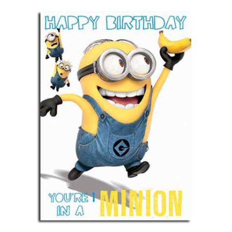 Minion 1 In A Minion Birthday Card  £1.60