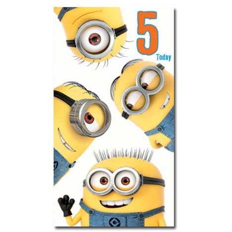 5 Today 5th Birthday Minions Card  £2.10