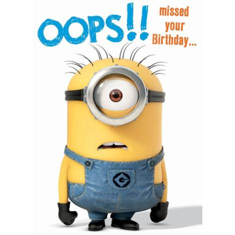 Belated Birthday Minion Card  £1.60