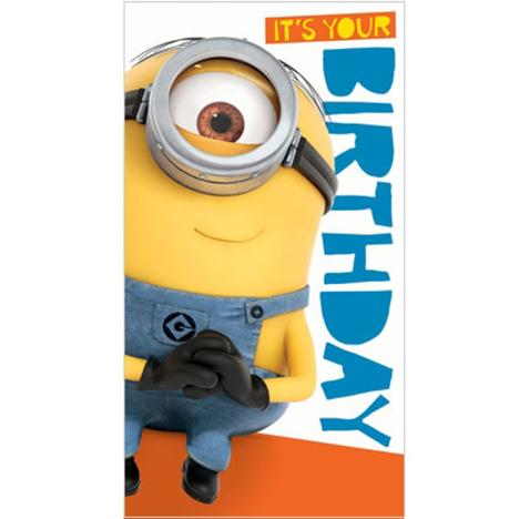 Its Your Birthday Minions Birthday Card With Stickers  £2.35