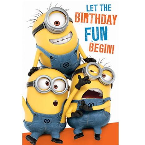 Birthday Fun Minions Birthday Card With Door Hanger  £2.35
