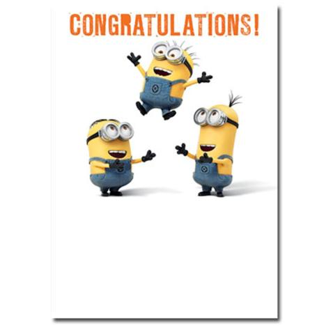 Congratulations Minions Card  £1.60