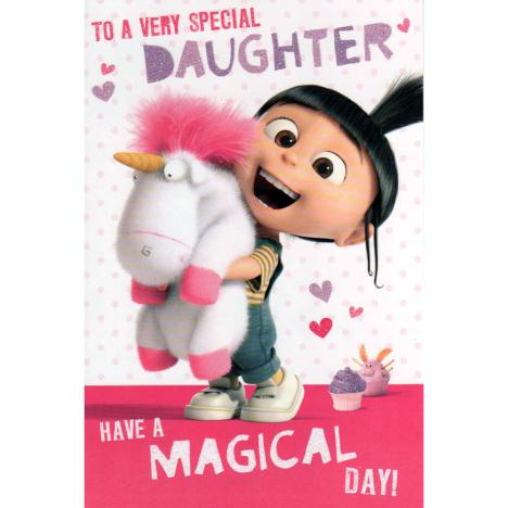 Special Daughter Agnes & Fluffy Unicorn Minions Card  £2.35