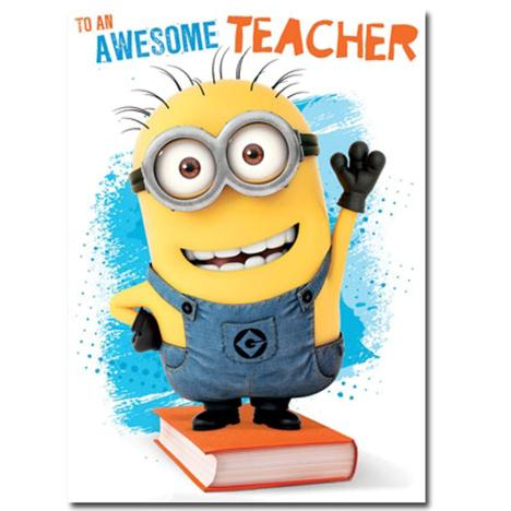 Awesome Teacher Thank You Minions Card  £1.60
