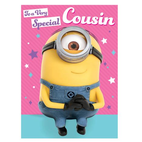 Special Cousin Minions Birthday Card  £1.60