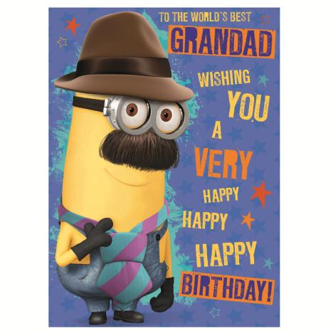 Worlds Best Grandad Minions Birthday Card  £1.60