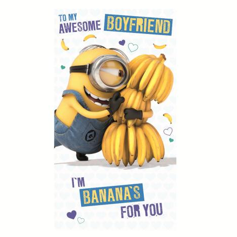 Awesome Boyfriend Minions Birthday Card  £2.10