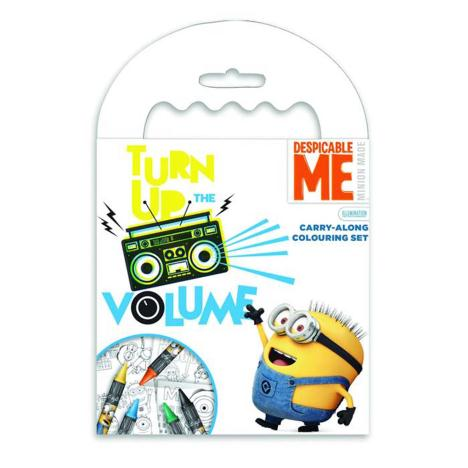 Minions Carry-Along Colouring Pad & Crayon Set   £1.79