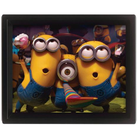 3D Minions Party Collectors Limited Edition Framed Picture   £9.99