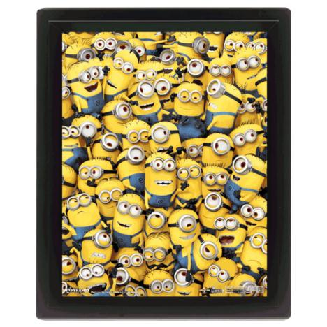 3D Many Minions Limited Edition Framed Picture   £9.99