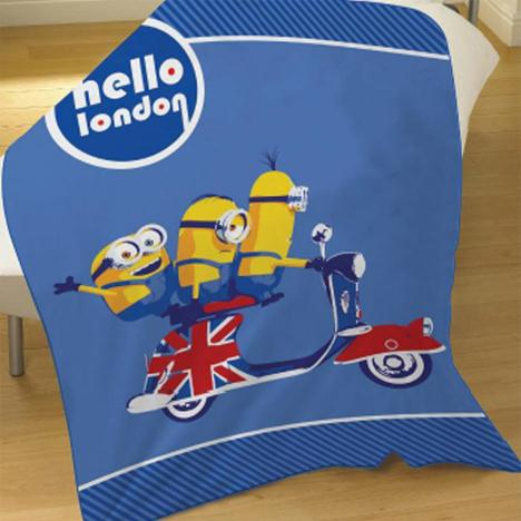 Hello London Minions Fleece Blanket  £9.99
