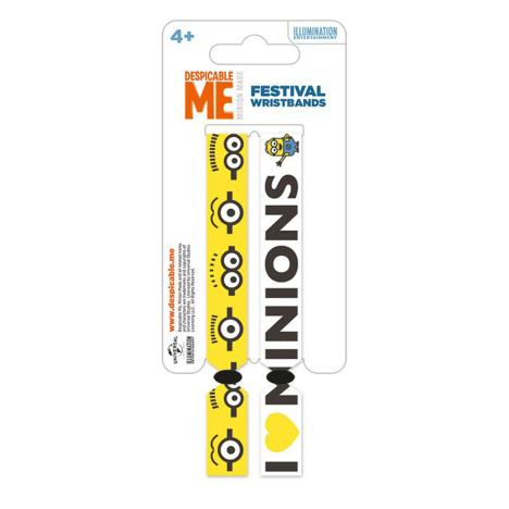 Minions Festival Wristbands 2 Pack  £3.49