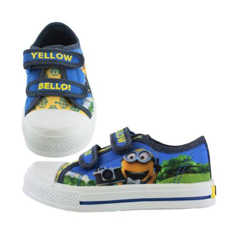 Minions Yellow Bello Kids Canvas Plimsoll Trainers  £13.99