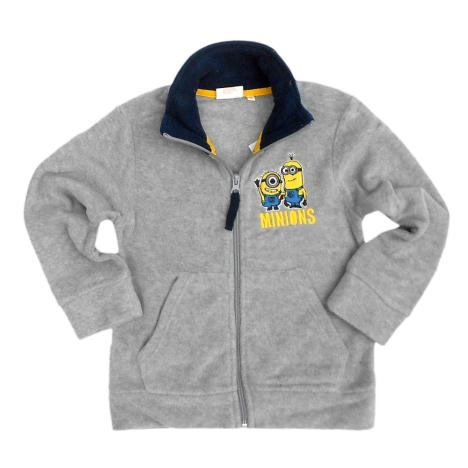Minions Grey Zipped Fleece Sweatshirt  £10.99