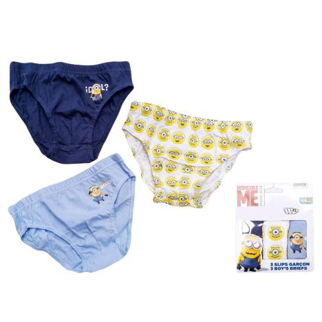 Minions Boys Briefs Pack of 3   £3.49