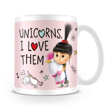 Despicable Me Agnes Unicorns I Love Them Mug  £6.99