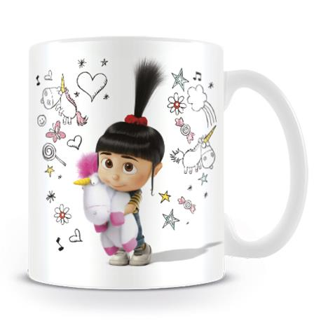 Despicable Me Agnes & Unicorn Doodle Mug  £6.99