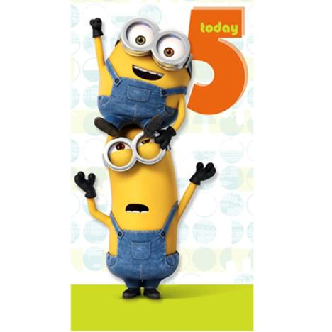 5 Today Minions Birthday Card  £2.10