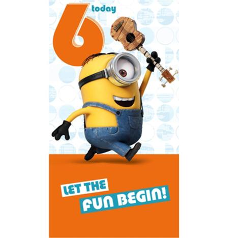 6 Today Minions Birthday Card  £2.10