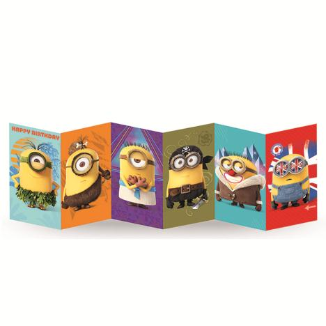 Happy Birthday Minions Fold Out Card  £3.00