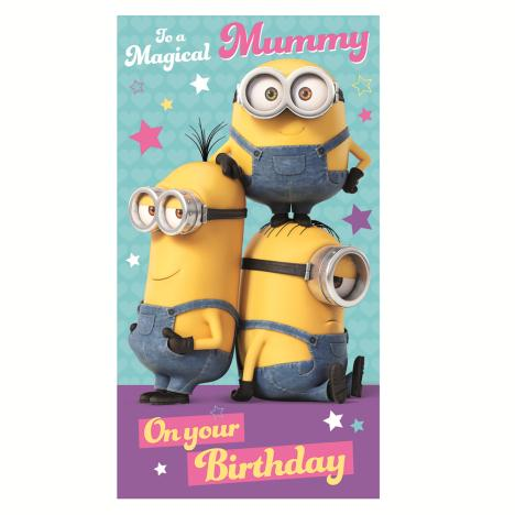 Magical Mummy Minions Birthday Card  £2.10
