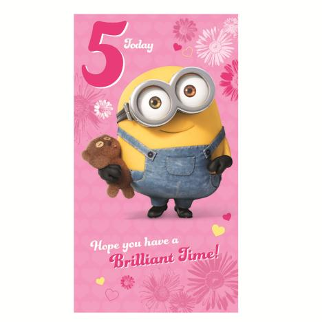 5 Today Pink Minions 5th Birthday Card  £2.10