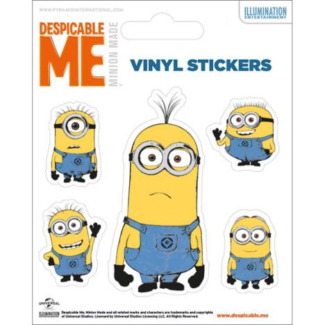 Illustrated Minions Vinyl Stickers  £0.99