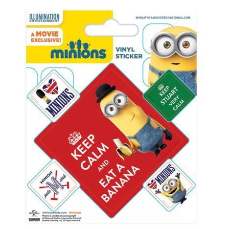 Minions Keep Calm Vinyl Stickers  £0.99