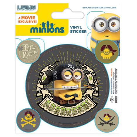 Minions Pirate Vinyl Stickers  £0.99