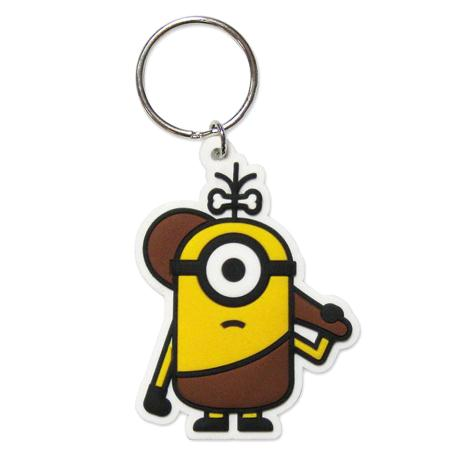 Minions Caveman Cro-Minion Rubber Key Ring  £1.99