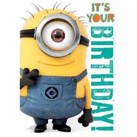 Minions Birthday Sound Card  £4.99