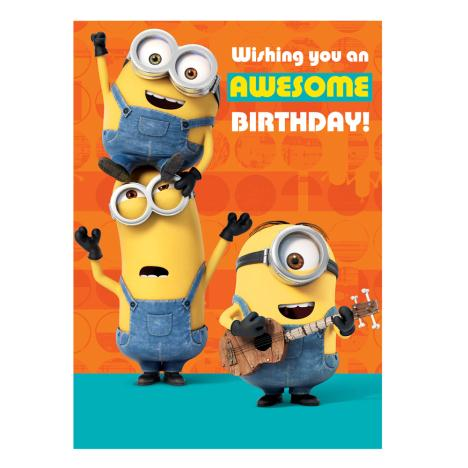 Awesome Birthday Tickle Minions Sound Card  £3.40