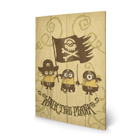 Walk The Plank Minions Wooden Wall Art (40cm x 59cm)  £39.99