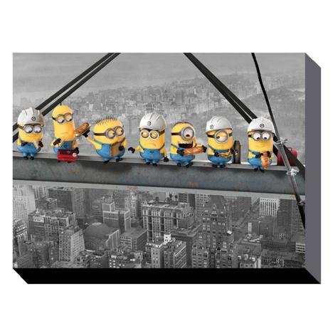 Minions Lunch On A Skyscraper Canvas Print (60cm x 80cm)  £39.99