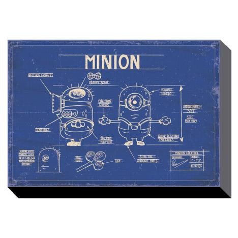 Minion Blue Print Canvas Print (40cm x 50cm)  £29.99