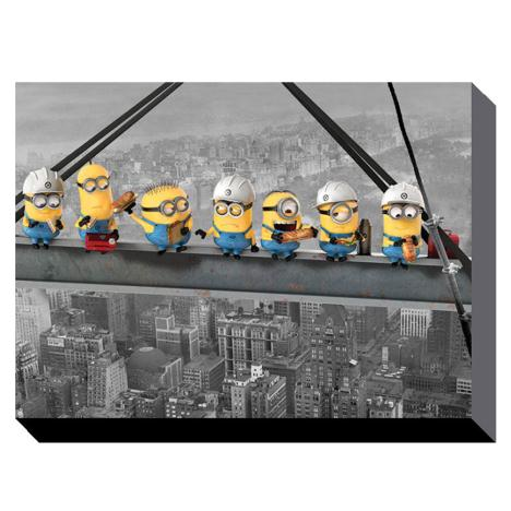 Minions Lunch On A Skyscraper Canvas Print (85cm x 120cm)  £59.99